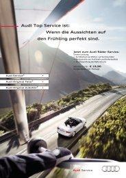 Audi Top Service ist: Wenn die Aussichten auf den ... - Scherer Gruppe