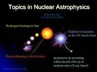 Nuclear Signatures & Nuclear Physics