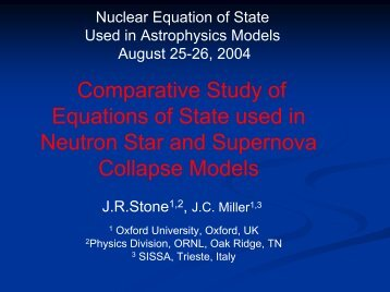 Comparative Study of Equations of State used in Neutron Star and ...
