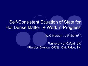Self-Consistent Equation of State for Supernovae and Neutron Stars