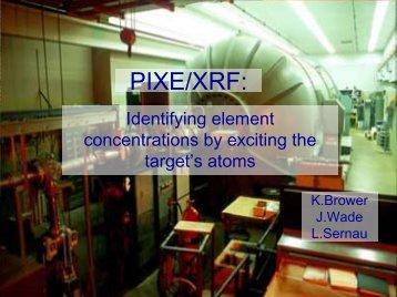 PIXE/XRF: