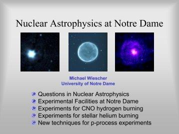 Nuclear Astrophysics @ Notre Dame