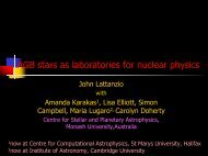 Stellar Evolution - The Joint Institute for Nuclear Astrophysics