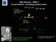 JINA Science - The Joint Institute for Nuclear Astrophysics
