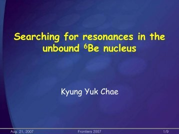 Searching for resonances in the unbound 6Be nucleus
