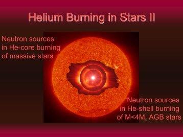 Helium Burning in Stars II