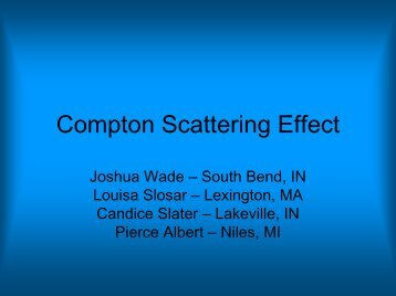Compton Scattering Effect