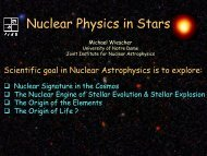 Nuclear Physics in Stars - The Joint Institute for Nuclear Astrophysics