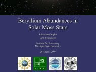 Beryllium Abundances in Solar Mass Stars