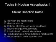 Topics in Nuclear Astrophysics II Stellar Reaction Rates