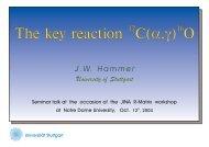 The Key Reaction 12 C (a,γ) 16 O