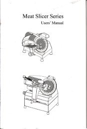Page 1 Meat Slicer Series Users' Manual Page 2 Honorific customer ...