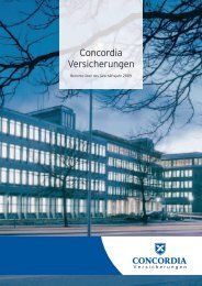 Geschaeftsbericht Concordia 2009 - Concordia Versicherungsgruppe