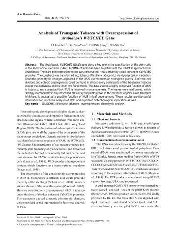 Full Text PDF - Journal of Integrative Plant Biology