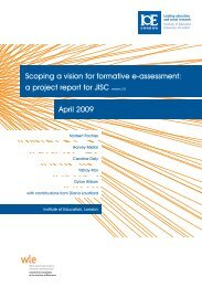 Scoping a vision for formative e-assessment: a project report ... - Jisc