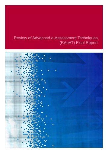 Review of Advanced e-Assessment Techniques (RAeAT) Final ... - Jisc