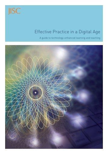 Effective Practice in a Digital Age (.pdf) - Jisc