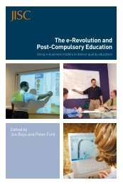The e-Revolution and Post-Compulsory Education: Using e ... - Jisc