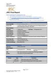 JISC Final Report