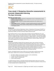 Case study 4: Designing interactive assessments to promote ... - Jisc