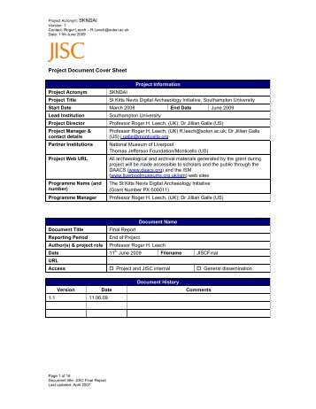 Project Document Cover Sheet Project Information Project Acronym ...