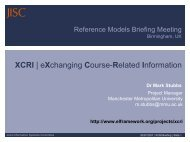 eXchanging Course-Related Information - Jisc