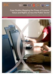 Case Studies Mapping the Flows of Content, Value and Rights ... - Jisc
