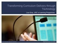 Transforming Curriculum Delivery through Technology - Jisc