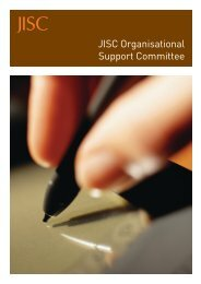 JISC Organisational Support committee brochure