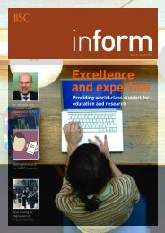 Inform 16: Excellence and expertise - Jisc