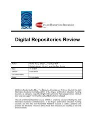 Digital Repositories Review - Jisc