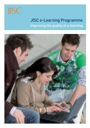 e-Learning brochure 2006 - Jisc