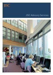 JISC Advisory Services brochure