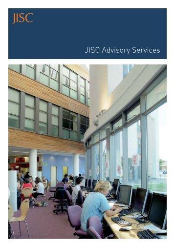 JISC Advisory Services brochure