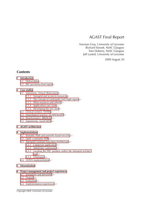 AGAST Final Report - Jisc