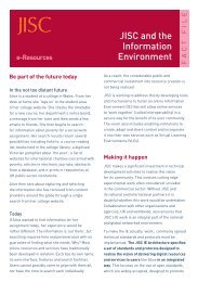 Factfile: JISC and the Information Environment