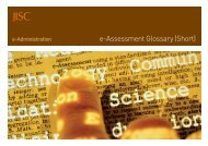 e-Assessment Glossary - short version - Jisc