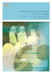 Enhancing Curriculum Design with Technology - Jisc