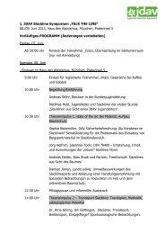 """1. JDAV Slackline Symposium """"TALK THE LINE"""" 08./09. Juni 2013 ..."""