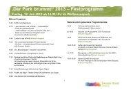 ,Der Park brummt!' 2013 – Festprogramm - JIZ