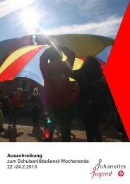 SSD Wochendende 22.-24.02.2013 Ausschreibung/Anmeldung (pdf)