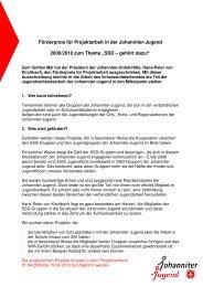 Förderpreis für Projektarbeit in der Johanniter-Jugend 2009-2010 ...