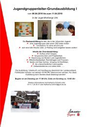 Jugendgruppenleiter-Grundausbildung I