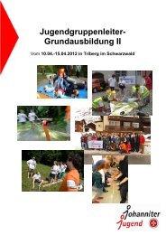 Jugendgruppenleiter- Grundausbildung II - Johanniter-Jugend