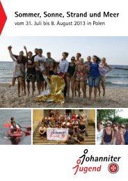 Sommerfreizeit in Polen 2013 Ausschreibung & Anmeldung (pdf)