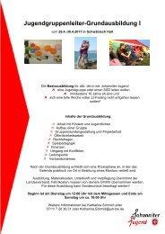 Jugendgruppenleiter-Grundausbildung I - Johanniter-Jugend in ...