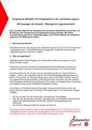 Förderpreis 2010/2011 für Projektarbeit in der Johanniter-Jugend ...