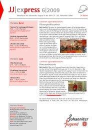 JJ express 06/2009 (pdf) - Johanniter-Jugend in Baden-Württemberg