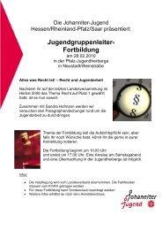 Jugendgruppenleiter-Fortbildung 28.02.2010 Info/Anmeldung (pdf)