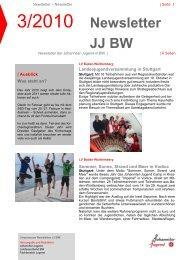 Newsletter JJ BW 03/2010 (pdf) - Johanniter-Jugend in Baden ...